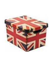Plastikowe pudło z pokrywką Angielska Flaga 39,5x29,5x25 w sklepie Dedekor.pl