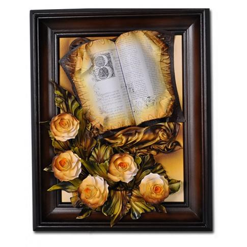 Obraz skórzany książka 40/50cm w sklepie Dedekor.pl