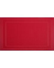 Mata stołowa PVC/PS czerwień 30x45cm VELVET w sklepie Dedekor.pl
