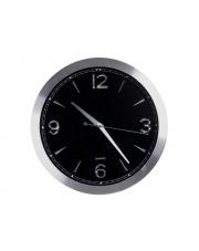 Piękny zegar czarno-srebrny śr. 30 cm w sklepie Dedekor.pl