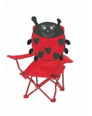 Dziecięce krzesełko campingowe CZERWONA BIEDRONKA