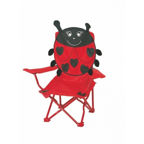 Dziecięce krzesełko campingowe CZERWONA BIEDRONKA w sklepie Dedekor.pl
