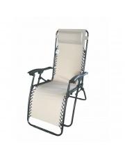 Luksusowy fotel RELAX beżowy