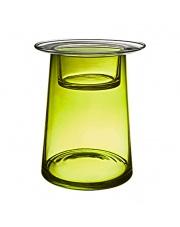 Zielony szklany świecznik