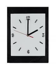 Zegar ścienny na szkle biało-czarny w sklepie Dedekor.pl