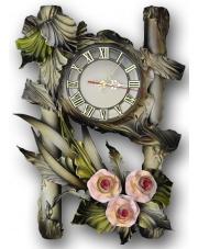 Zegar ścienny ze skóry 14ze/08 w sklepie Dedekor.pl