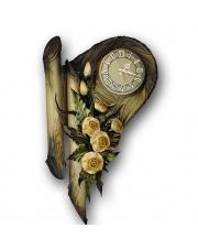 Skórzany zegar na ścianę 73Z