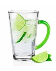 Szklany kubek z zielonym uchwytem Iwo 300 ml w sklepie Dedekor.pl