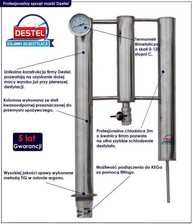 kolumna do destylacji alkoholu Destel 500XL