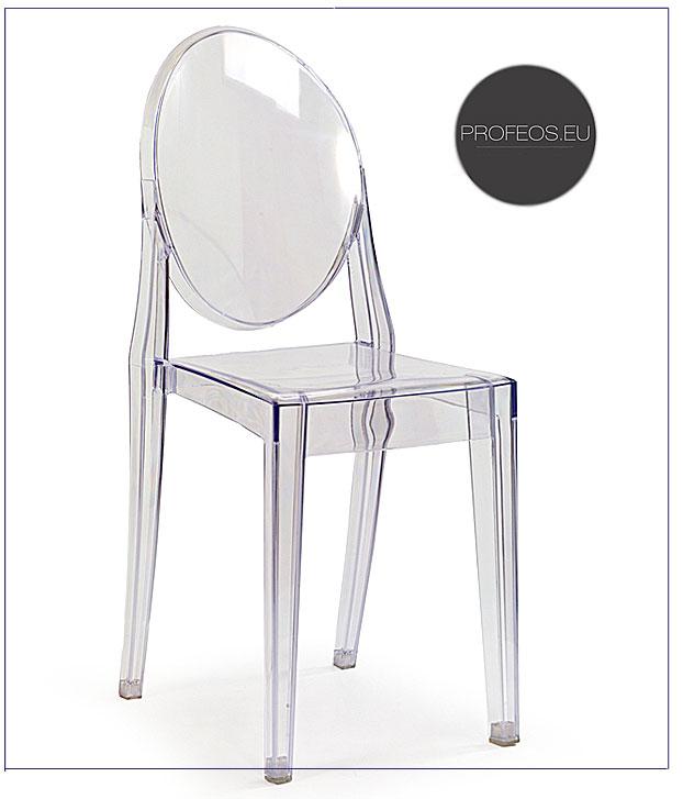 krzesło bezbarwne louis ghost