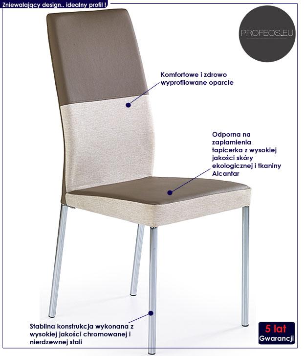 krzesło metalowe Angel