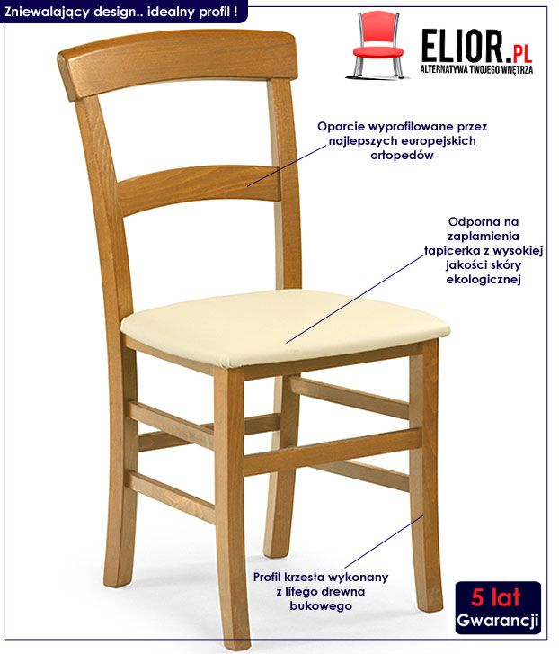krzesło drewniane Caper
