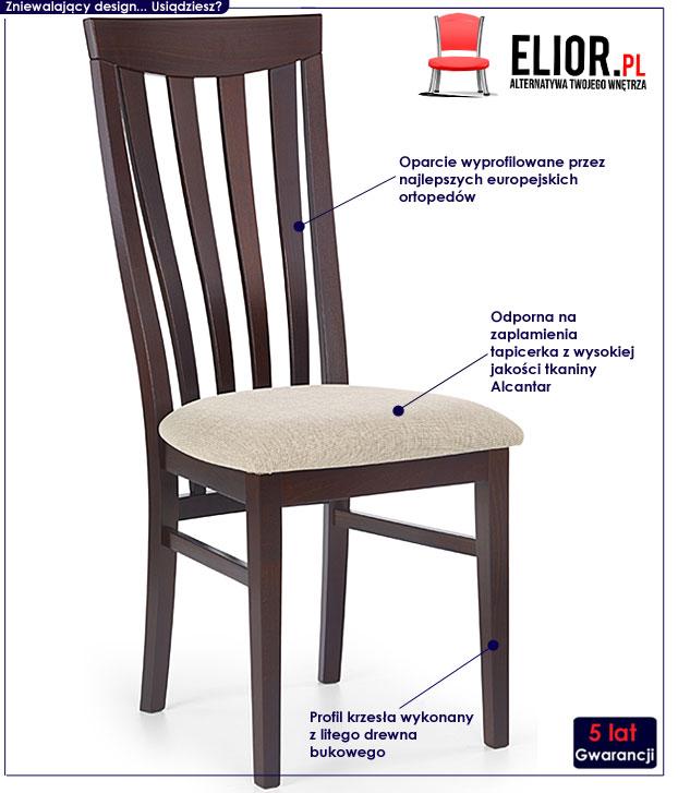 krzesło tapicerowane Carter