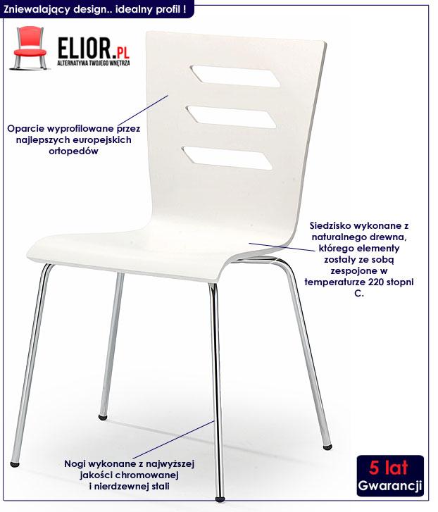 krzesło białe Cejlon