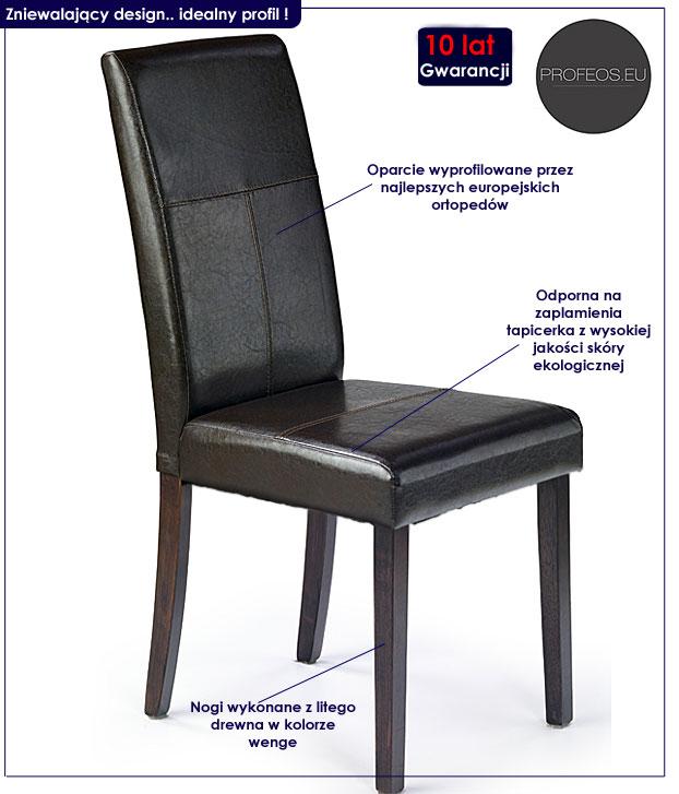 krzesło kremowe Corel