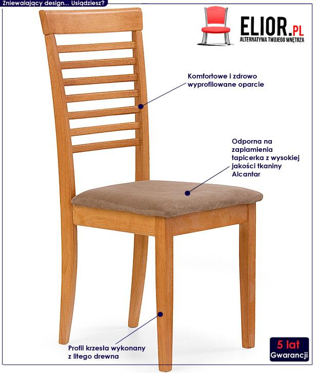 krzesło drewniane Cullen