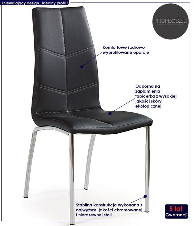 krzesło czarne David