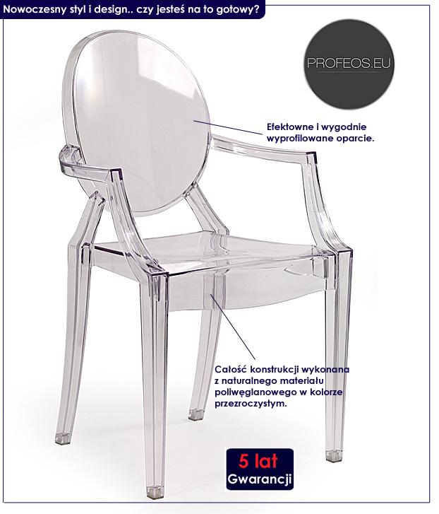 krzesło dinos louis ghost