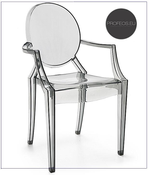 krzesło transparentne bezbarwne dinos