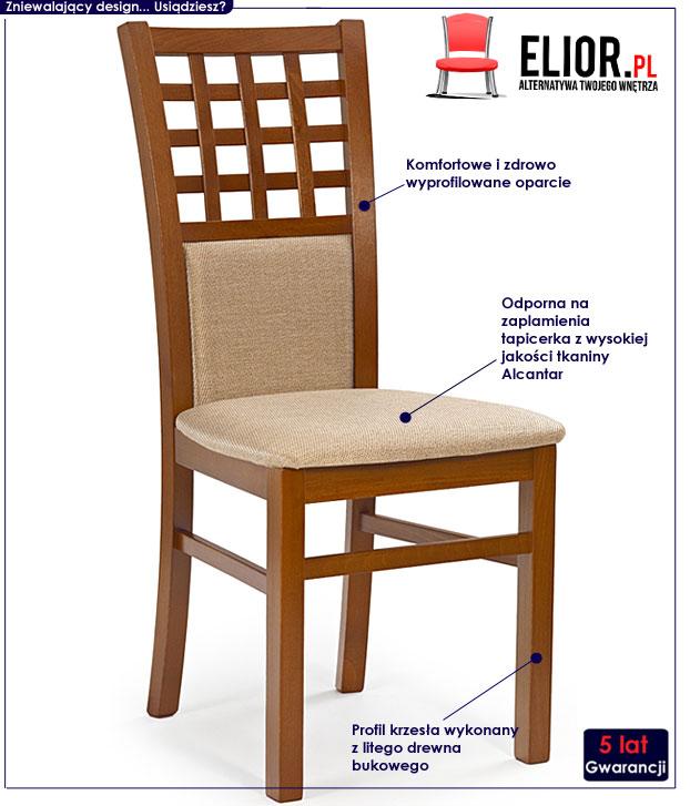 krzesło drewniane Eddie
