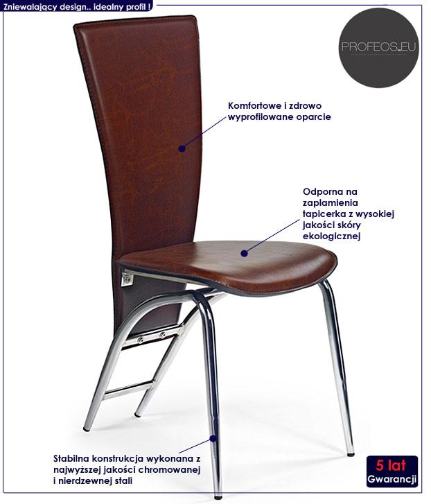 krzesło metalowe Harry