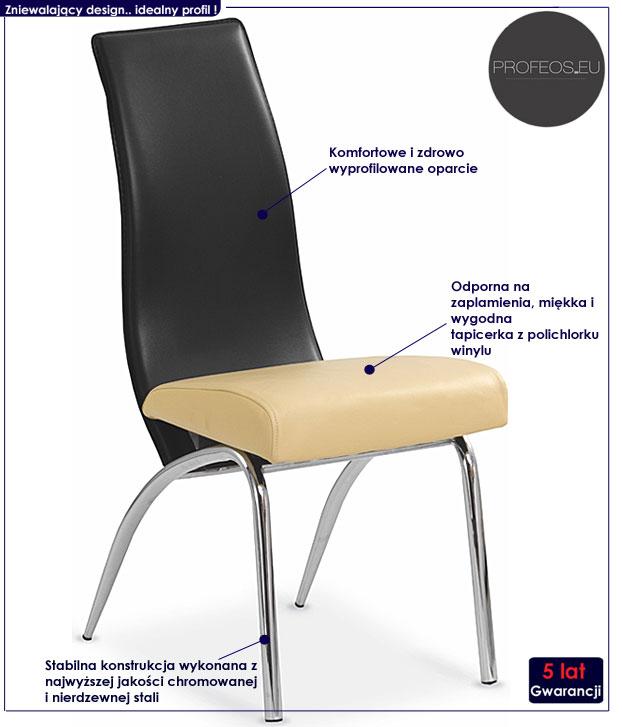 krzesło metalowe Henry