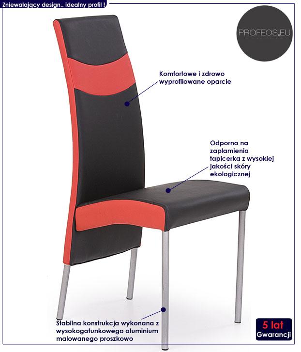 krzesło aluminiowe Inter