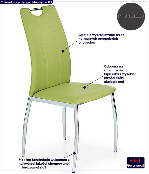 krzesło metalowe Jacob