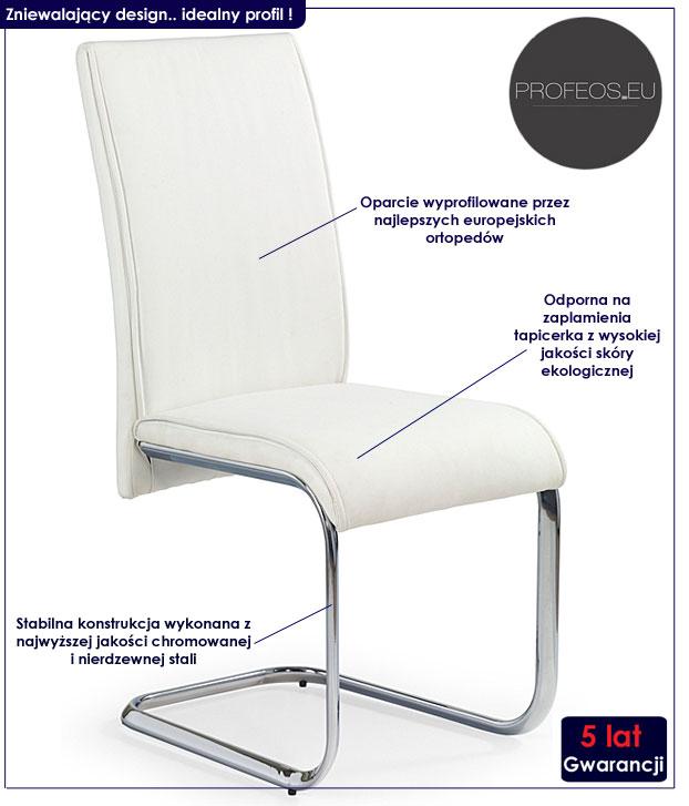 krzesło białe Lidan