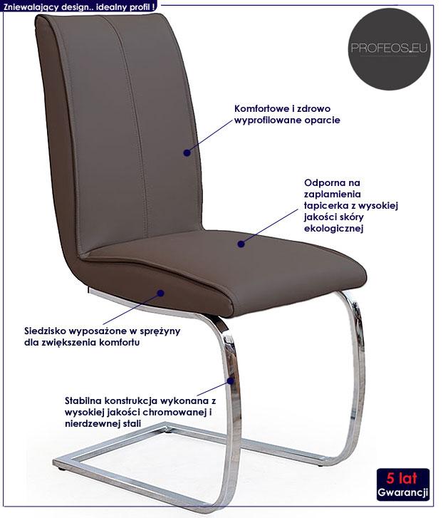 krzesło sprężynujące Paster