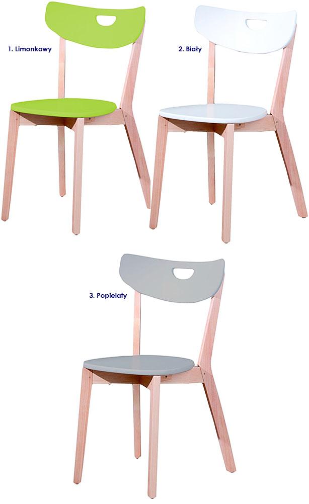 krzesło białe Pepper