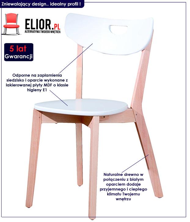krzesło drewniane Pepper