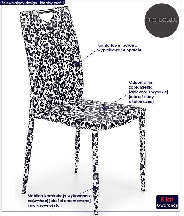 krzesło metalowe Pinker
