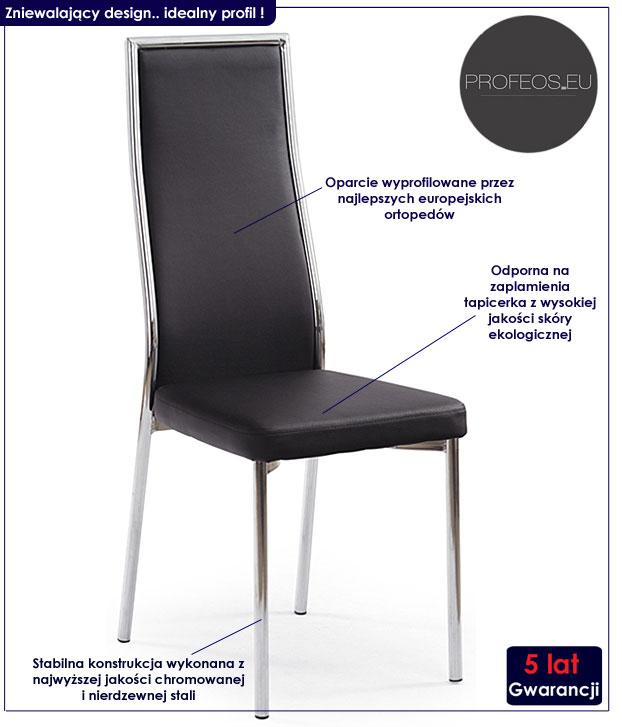 krzesło metalowe Singer