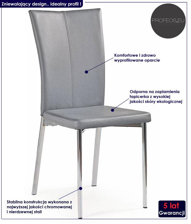 krzesło metalowe Sybis