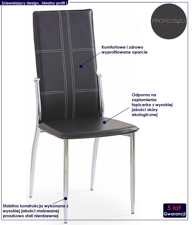 krzesło tapicerowane Terrin