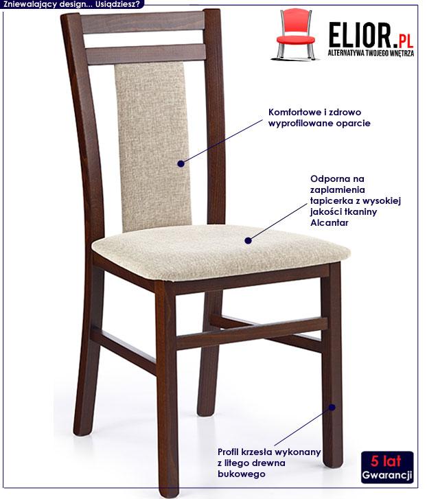krzesło tapicerowane Thomas
