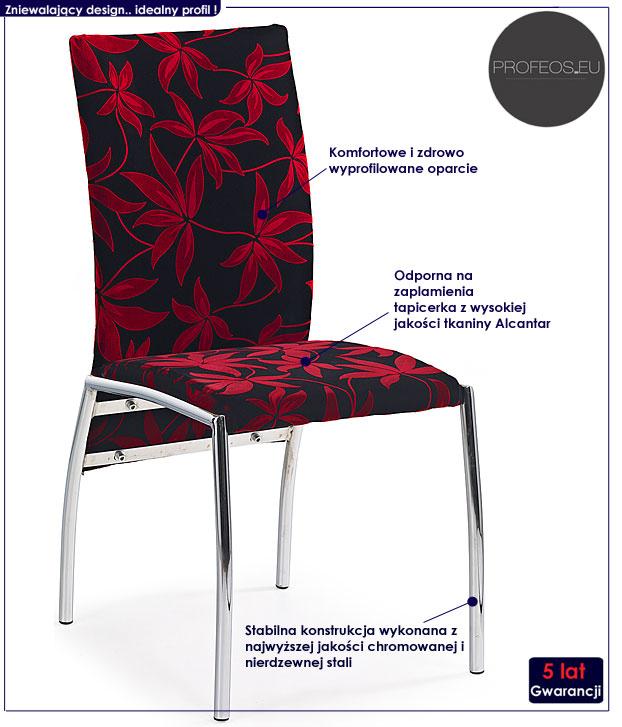 krzesło tapicerowane Vincent