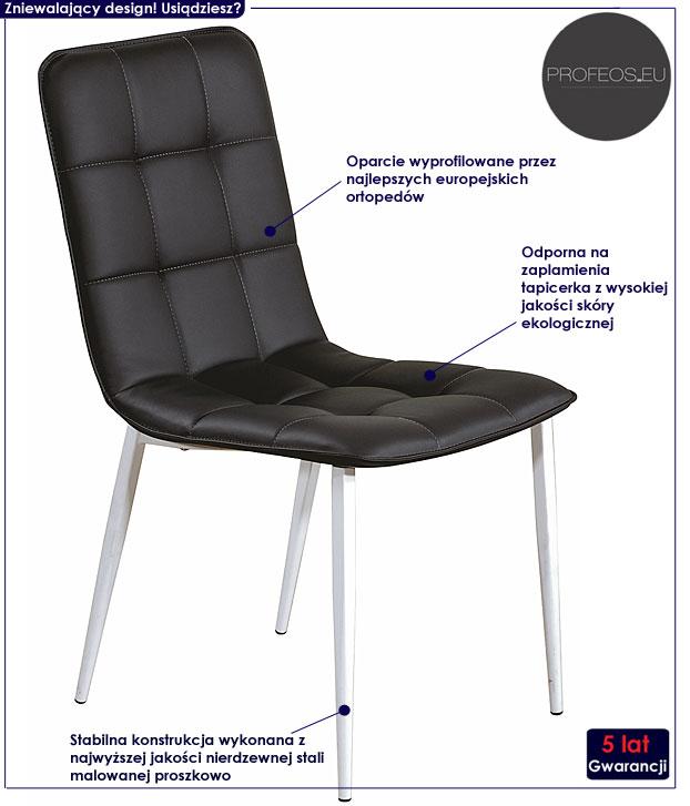 krzesło czarne Winston