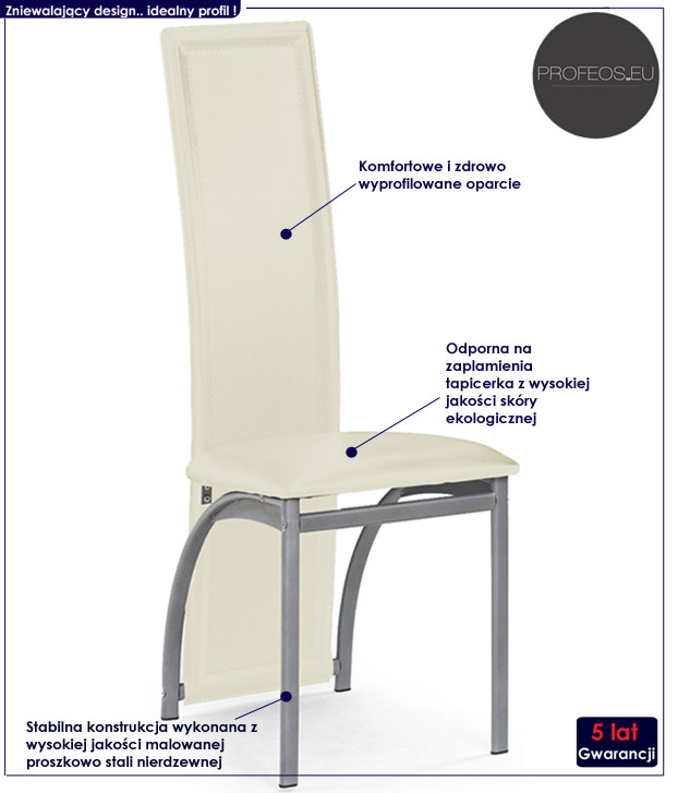 krzesło tapicerowane Yantar