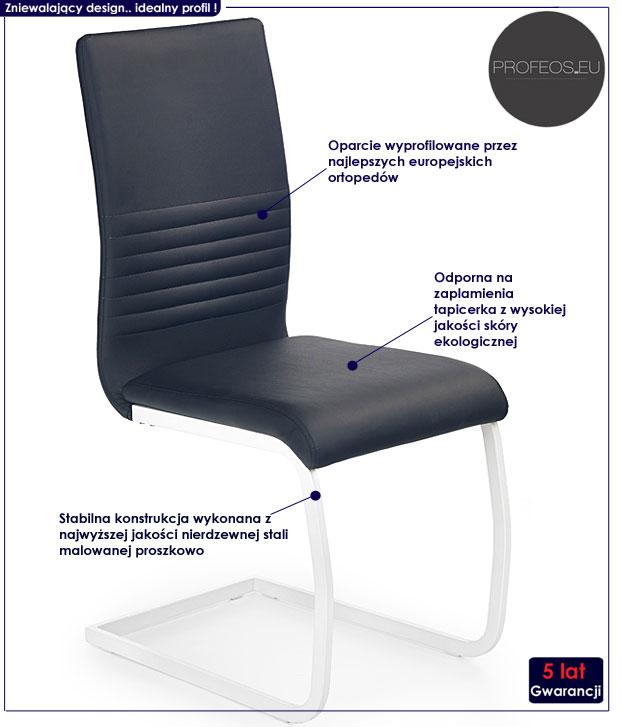 krzesło metalowe Zeppen