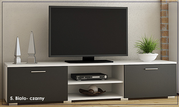 szafka pod telewizor czarna Pixelo