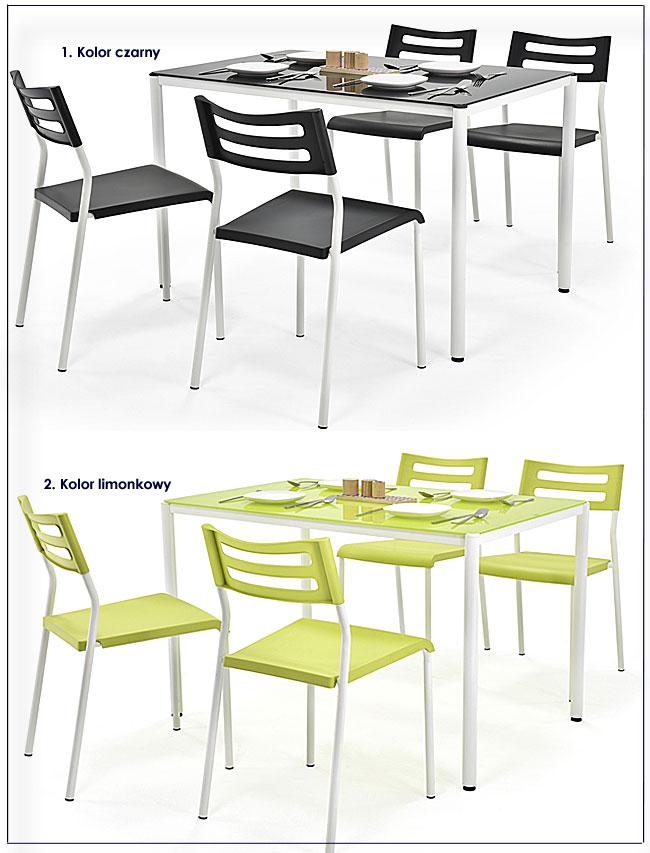 stół z krzesłami do kuchni Creola
