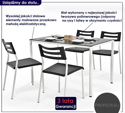 stół z krzesłami Creola