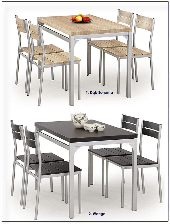zestaw stół i 4 krzesła Torino