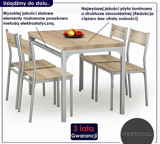 stół z krzesłami Torino